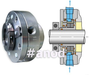 Single mechanical seals with cooling jucket
